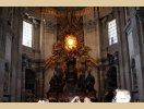 Ołtarz tronu Piotra w bazylice - Rzym