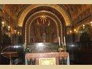 Ocalała kaplica, gdzie spoczywają św. Benedykt i jego siostra św. Scholastyka - Monte Cassino