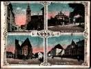 Koźle na pocztówce, po lewej stronie kościół par.