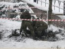 niewypał musiał zostać usunięty przez wojskową jednostkę saperską. (fot.: ks. K.R.)